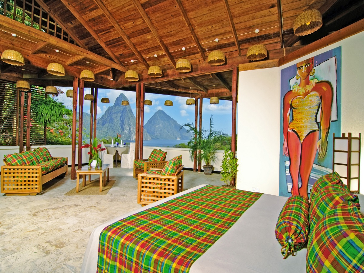 Caribbean      St. Lucia      Anse Chastanet Premium Room (7f) & Pitons view